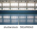 interior of a sport hall for... | Shutterstock . vector #581698363