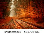 Railroad Tracks Through The...