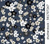 trendy seamless floral pattern...   Shutterstock .eps vector #581707267