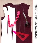 shoeupper the dress on the... | Shutterstock . vector #581710303