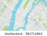 new york city vector map | Shutterstock .eps vector #581711863