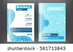 medical brochure design... | Shutterstock .eps vector #581713843