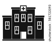city hospital building icon....