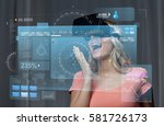 technology  augmented reality ... | Shutterstock . vector #581726173
