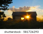 morning barn | Shutterstock . vector #581726293