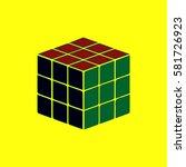 rubik cube vector illustration... | Shutterstock .eps vector #581726923
