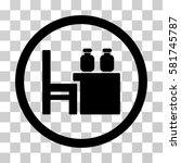 apothecary table vector... | Shutterstock .eps vector #581745787
