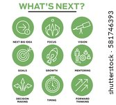 what's next icon set with big... | Shutterstock .eps vector #581746393
