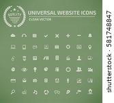 website icon set clean vector | Shutterstock .eps vector #581748847