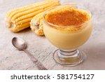 brazilian sweet custard like... | Shutterstock . vector #581754127