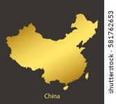 China Map Border With Golden...