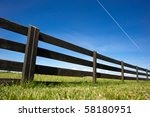 Wooden Fence Under Blue Sky