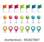 set of colorful flags  round...   Shutterstock .eps vector #581827807