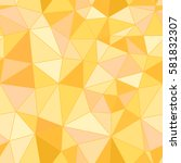 yellow polygon background for... | Shutterstock .eps vector #581832307