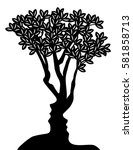 tree formed from man and womans ... | Shutterstock . vector #581858713