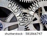 macro photo of tooth wheel... | Shutterstock . vector #581866747