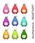 cute colorful cartoon little...