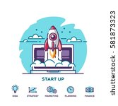 start up. concept for new... | Shutterstock .eps vector #581873323