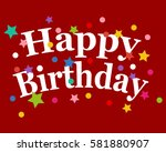 birthday greeting card vector  | Shutterstock .eps vector #581880907