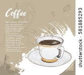 hand drawn illustration of... | Shutterstock .eps vector #581885293