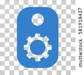 gear tag vector pictograph.... | Shutterstock .eps vector #581918437