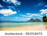 Tropical Sea Landscape. Beach...