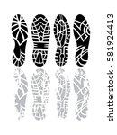 footprint sport shoes grunge... | Shutterstock .eps vector #581924413