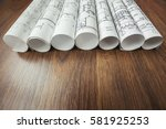 architect workplace.... | Shutterstock . vector #581925253