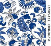 seamless pattern with fantasy... | Shutterstock .eps vector #581925397