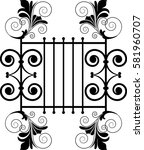 vector floral design element | Shutterstock .eps vector #581960707