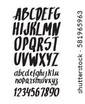 graphic font for your design.... | Shutterstock .eps vector #581965963