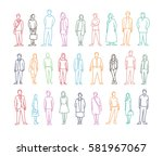 freehand drawing set many... | Shutterstock .eps vector #581967067