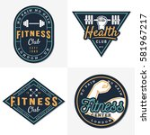 set of logos  emblem for gym ...