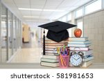 back to school concept with... | Shutterstock . vector #581981653