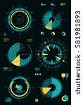 pie chart infographic | Shutterstock .eps vector #581981893