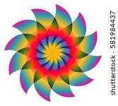 colorful flower | Shutterstock .eps vector #581984437