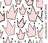 seamless vector pattern with... | Shutterstock .eps vector #581997403