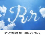 r clouds font calligraphy style ...   Shutterstock . vector #581997577