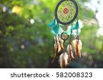 dream catcher blue coral with... | Shutterstock . vector #582008323