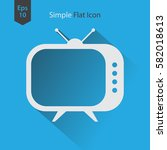 old tv flat icon. simple symbol ... | Shutterstock .eps vector #582018613