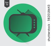 old tv flat icon. simple symbol ... | Shutterstock .eps vector #582018643