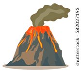 volcano  volcano icon  hot lava ... | Shutterstock .eps vector #582027193