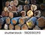 old oil tanks expire | Shutterstock . vector #582030193