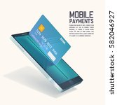 mobile payments vector concept. ... | Shutterstock .eps vector #582046927