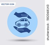 pictograph of car | Shutterstock .eps vector #582068143