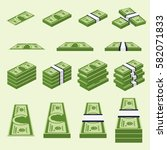 set a various kind of money.... | Shutterstock .eps vector #582071833