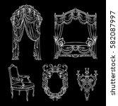 vector collection of baroque...   Shutterstock .eps vector #582087997