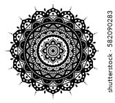mandala. coloring book pages.... | Shutterstock .eps vector #582090283