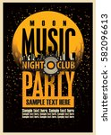 disco music party poster... | Shutterstock .eps vector #582096613