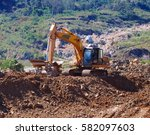 Excavator Or Backhoe At The...